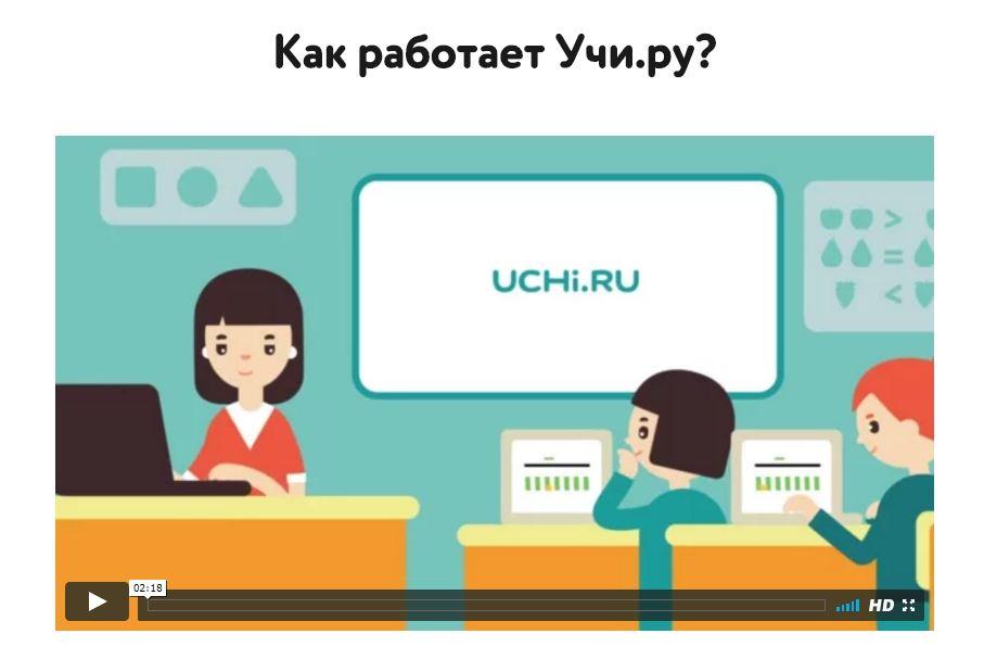 Видеоролик - Как работает Учи.ру?