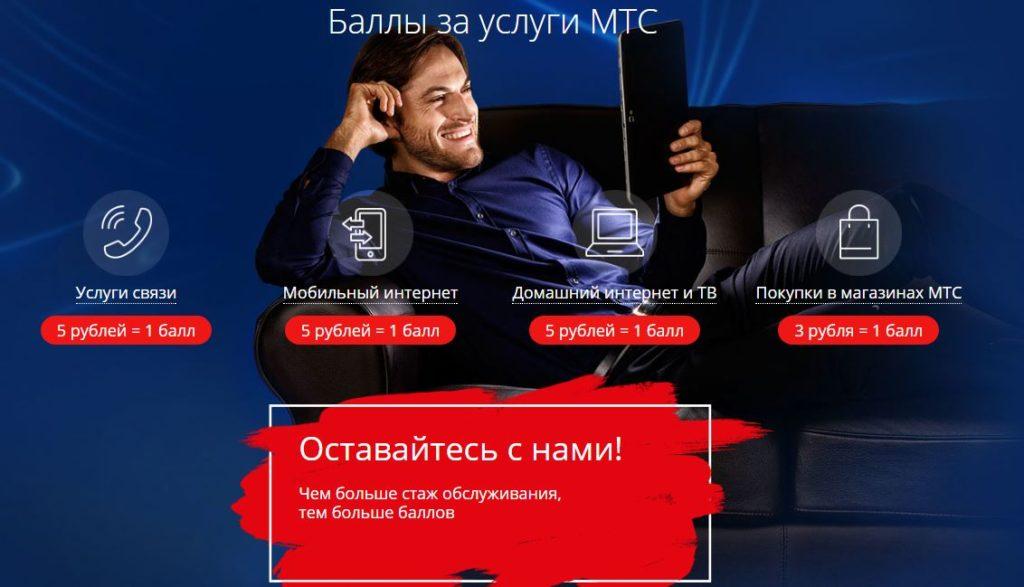 МТС Бонус - Баллы за услуги МТС