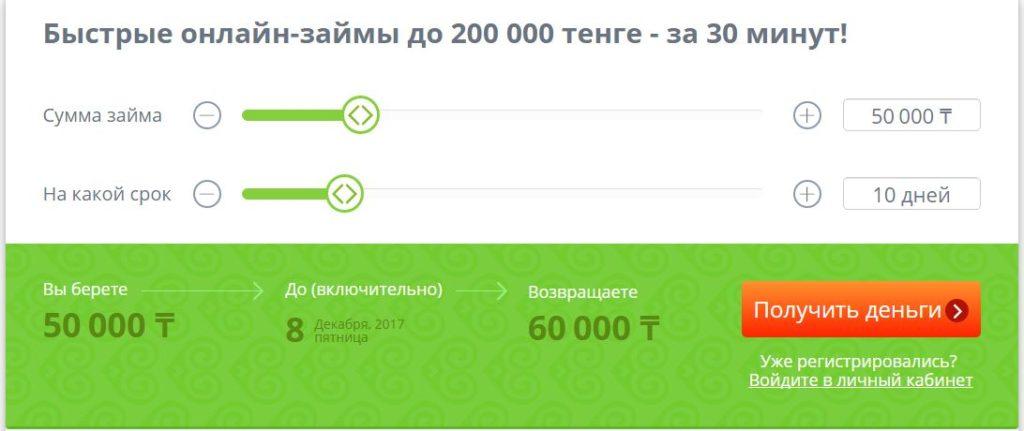 Оформление онлайн-займа на Кредит 24