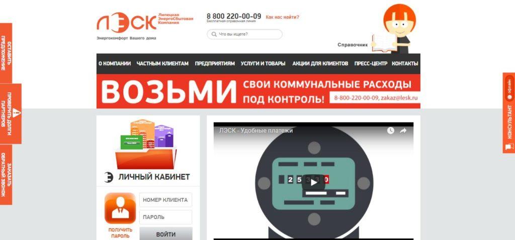 Официальный сайт ЛЭСК