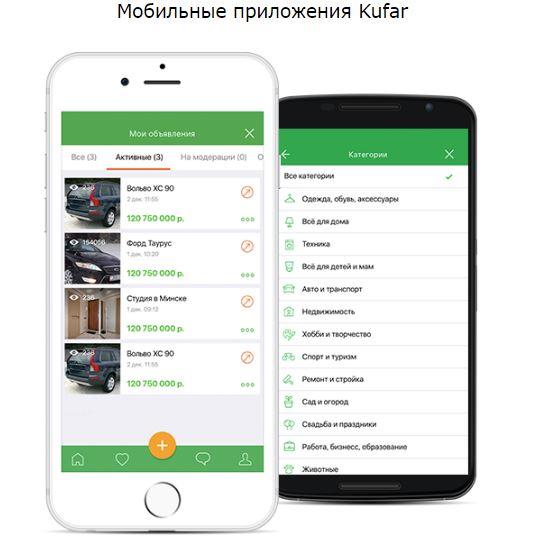 Мобильные приложения Куфар