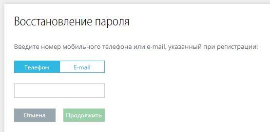 Восстановление пароля для входа в личный кабинет Энергосбыт Курган