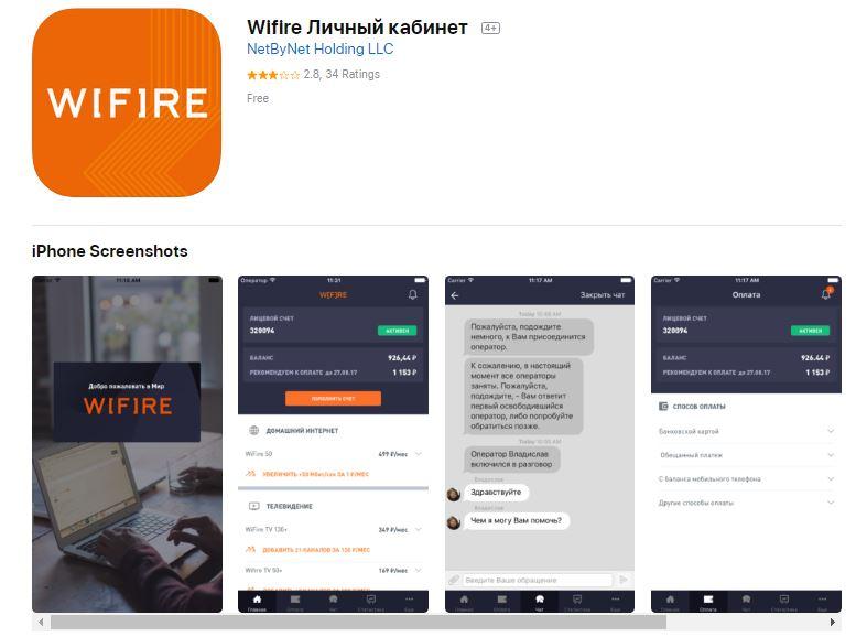 Мобильное приложение поставщика услуг связи netbynet
