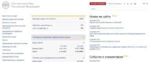 Официальный сайт Центрального банка Российской Федерации