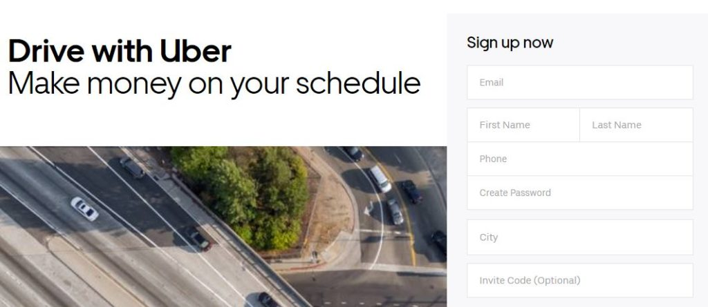 Регистрация водителя-партнёра на официальном сайте Убер